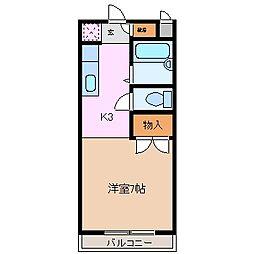 三重県四日市市塩浜本町2丁目の賃貸アパートの間取り
