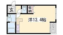 平野レジデンス[307号室]の間取り