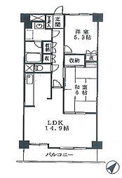 エクレール横浜[5階]の間取り