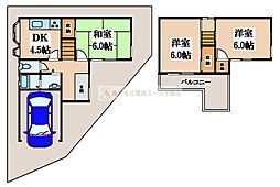 [一戸建] 大阪府堺市美原区南余部 の賃貸【/】の間取り