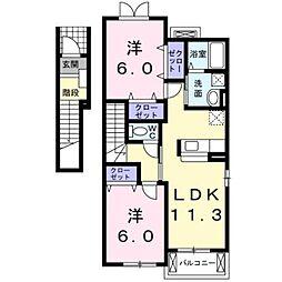 パルテールII[2階]の間取り