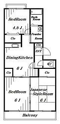 エクセルDハイム[4階]の間取り