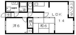 アビコOFK[4階]の間取り