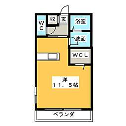 ハイム安樹[1階]の間取り