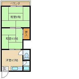 銀栄マンション2[2階]の間取り