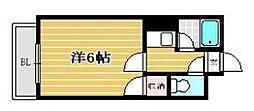 福岡県福岡市博多区東光寺町1丁目の賃貸マンションの間取り