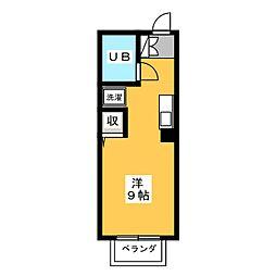 メイゾンやくしA[2階]の間取り