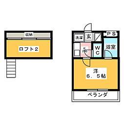 東起SKYメゾン[1階]の間取り