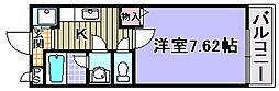 パセオ久米田[101号室]の間取り