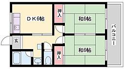 エクセレント宝殿3号棟[416号室]の間取り