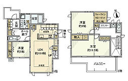 [一戸建] 千葉県柏市十余二 の賃貸【/】の間取り