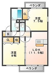 コンフォヴェール[2階]の間取り