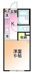 ウィスタリアハウス[1階]の間取り
