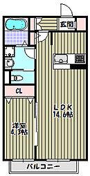 クレスト樹庵[1階]の間取り