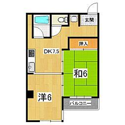 近建イレブン[8階]の間取り