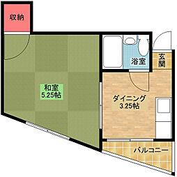 粉浜ハザマコーポ[3階]の間取り