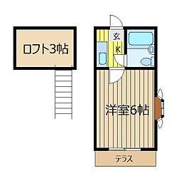 レモンハウス本町[2階]の間取り