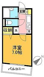 アベニール東松原[302号室]の間取り
