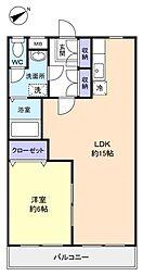 フィールドコート澤田II[1階]の間取り