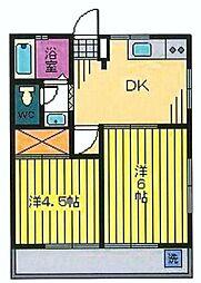 埼玉県志木市本町6丁目の賃貸アパートの間取り
