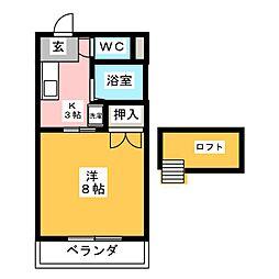 コンフォート響[2階]の間取り