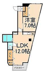 第一富士マンション[301号室]の間取り