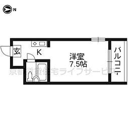 第二京都メゾンベルジュ西京極[201号室]の間取り