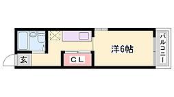 MJ5神戸アパートメント[3階]の間取り