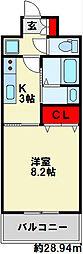 福岡県北九州市小倉南区下曽根4丁目の賃貸マンションの間取り