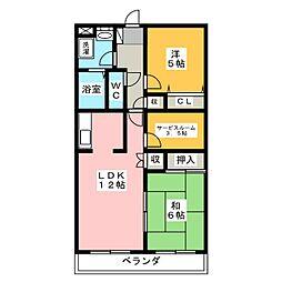 サンフローラ[3階]の間取り