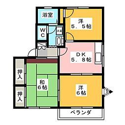 プロシードKEN B[2階]の間取り