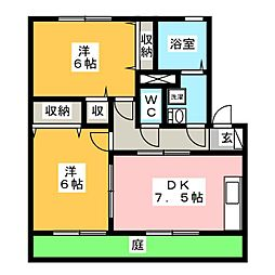 リビングタウン下地 A[1階]の間取り