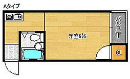 ロイヤル御崎[2階]の間取り