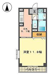 愛知県名古屋市名東区小井堀町の賃貸マンションの間取り