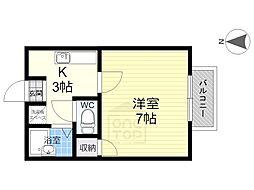 アーニストハウスA棟[2階]の間取り
