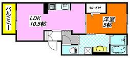 エトワール 305号室[3階]の間取り