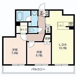 アムールサージュ[3階]の間取り