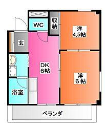 東京都北区王子3の賃貸マンションの間取り