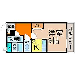 愛知県名古屋市昭和区塩付通6丁目の賃貸マンションの間取り