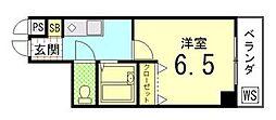 京都府京都市中京区西ノ京伯楽町の賃貸マンションの間取り