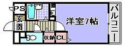 プランドールマサキ[5階]の間取り