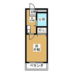 さわらびマンション[1階]の間取り