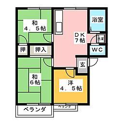 トラッドA[2階]の間取り