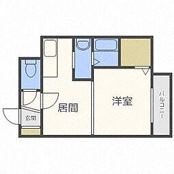 北海道札幌市豊平区豊平三条7丁目の賃貸マンションの間取り