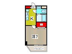 アルファコート西川口14[2階]の間取り