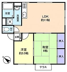KハイツA棟[1階]の間取り