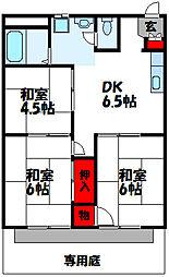 サンシティ古賀[2階]の間取り