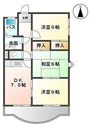 静岡県浜松市中区幸2丁目の賃貸マンションの間取り