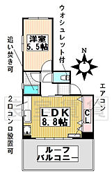 愛知県名古屋市千種区春岡通5丁目の賃貸マンションの間取り