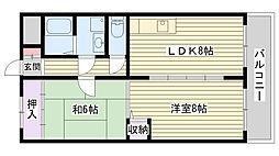 ミオハイツザコ[4階]の間取り